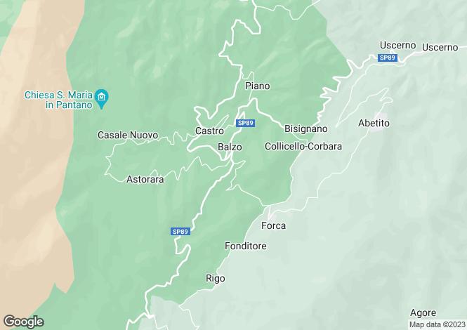 Map for Montegallo, BALZO