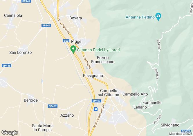 Map for Umbria, Perugia, Campello sul Clitunno