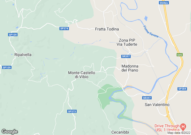 Map for Monte Castello di Vibio, Perugia, Umbria