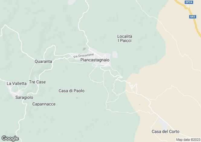 Map for Tuscany, Siena, Piancastagnaio