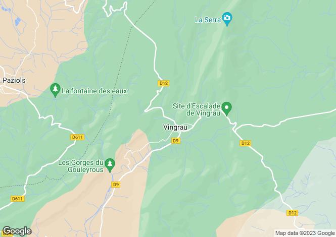 Map for vingrau, Pyrénées-Orientales, France