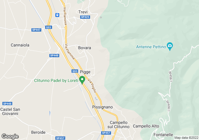 Map for Italy - Umbria, Perugia, Trevi