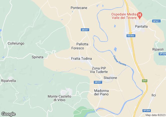 Map for Umbria, Perugia, Fratta Todina