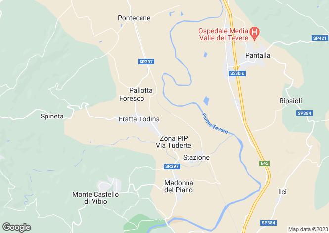 Map for Fratta Todina, Perugia, Umbria