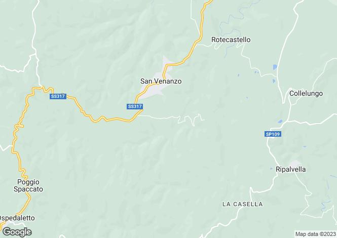 Map for Umbria, Terni, San Venanzo
