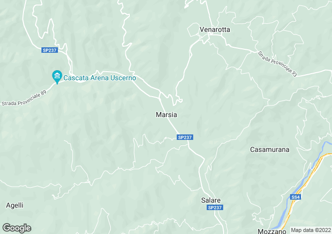 Map for Roccafluvione, STRADA CASERINE