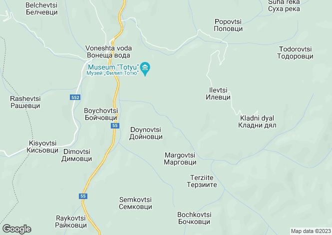 Map for Gabrovo, Tryavna