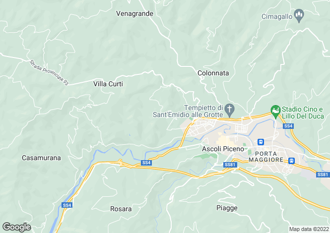 Map for Ascoli Piceno