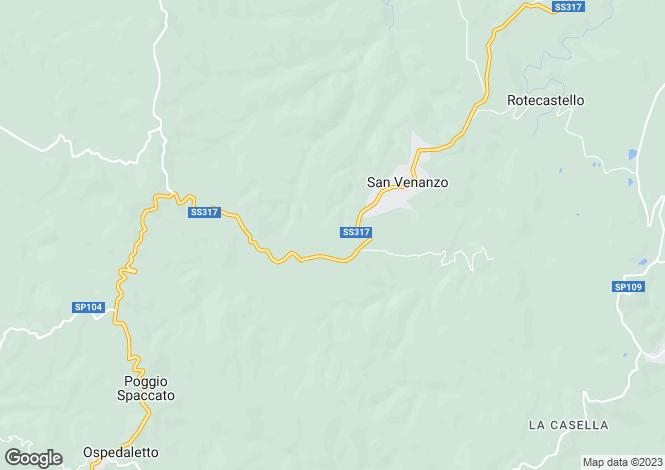 Map for San Venanzo, Terni, Umbria