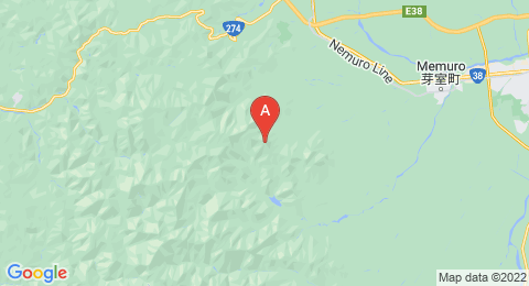 map of Mount Kyusan (Japan)