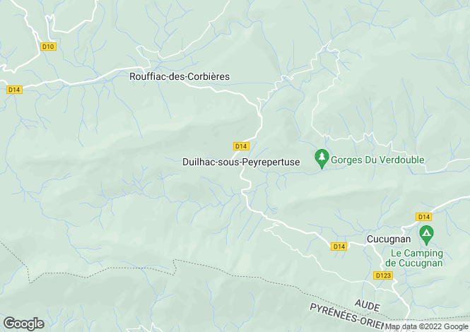 Map for Duilhac Sous Peyrepertuse, Languedoc-Roussillon, France