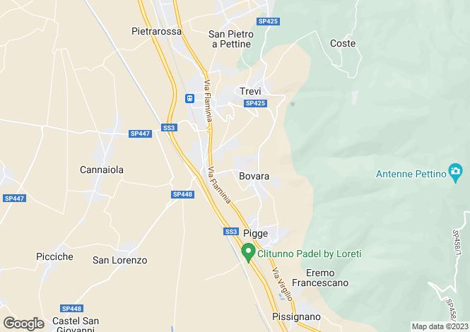 Map for Trevi, Perugia, Umbria