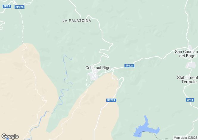 Map for San Casciano dei Bagni, Siena, Tuscany