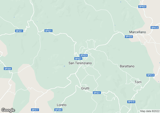 Map for Italy - Umbria, Perugia, Gualdo Cattaneo