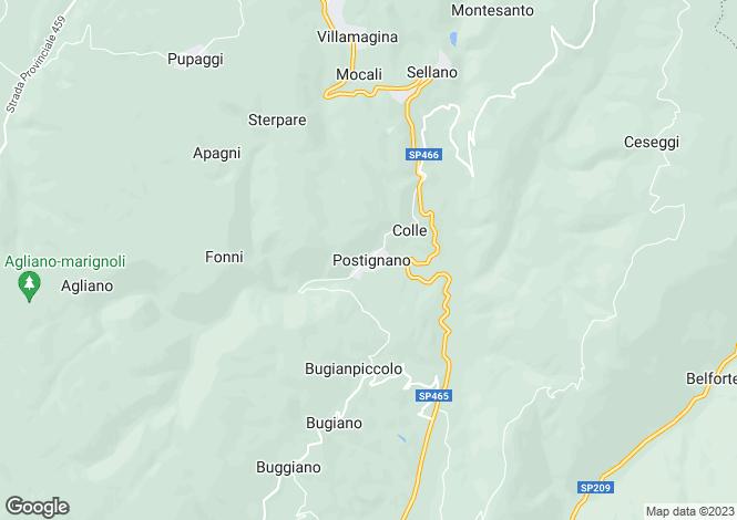 Map for Italy - Umbria, Perugia, Sellano