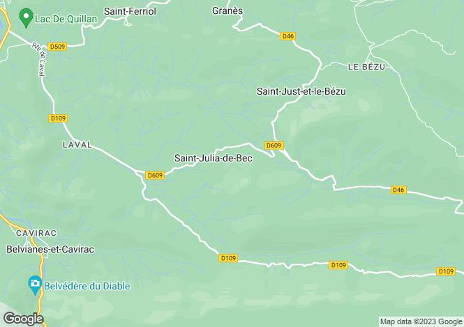 Map for 11500 SAINT-JULIA-DE-BEC, Aude, France