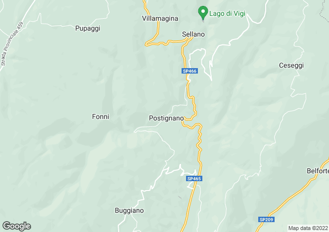 Map for Umbria, Perugia, Sellano