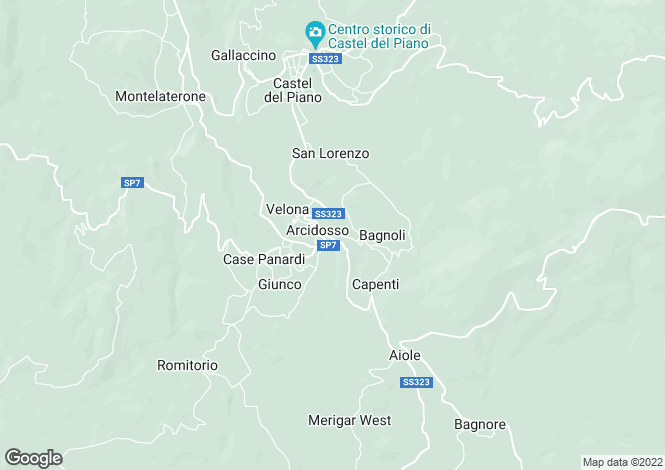Map for Arcidosso,Italy