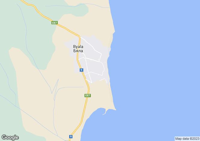 Map for Byala, Varna