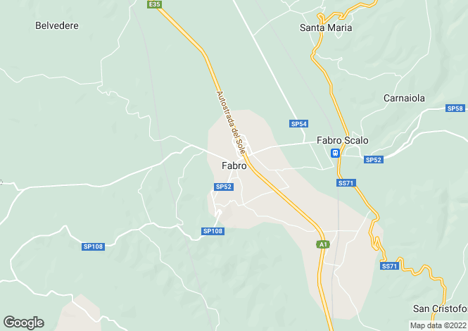 Map for Fabro, Umbria, Italy