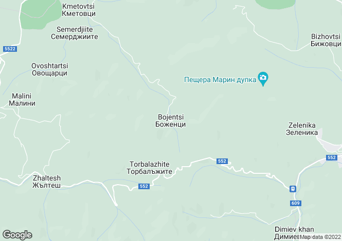 Map for Bozhentsite, Gabrovo