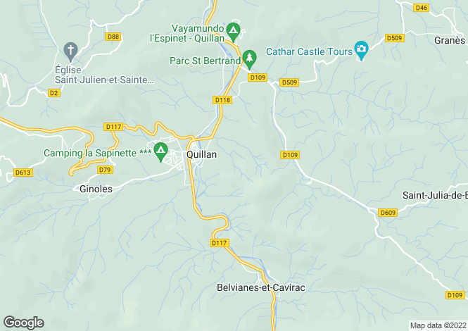 Map for LANGUEDOC-ROUSSILLON, AUDE, EXCLUSIF QUILLAN