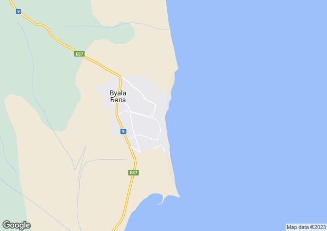 Map for Varna, Byala
