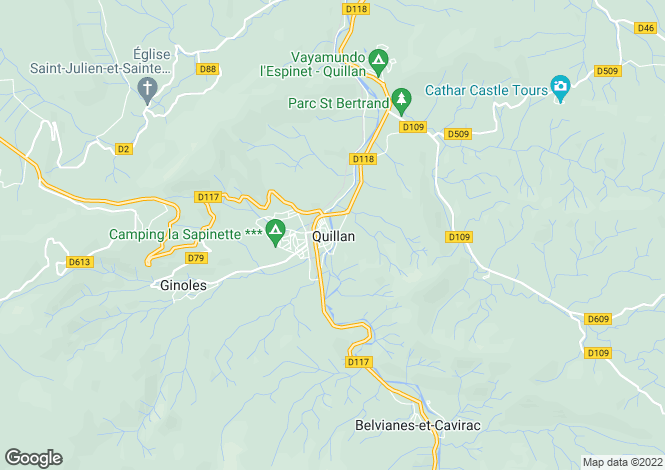Map for Secteur: Quillan, Aude