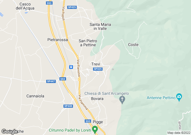 Map for Italy - Umbria, Perugia, Trevi