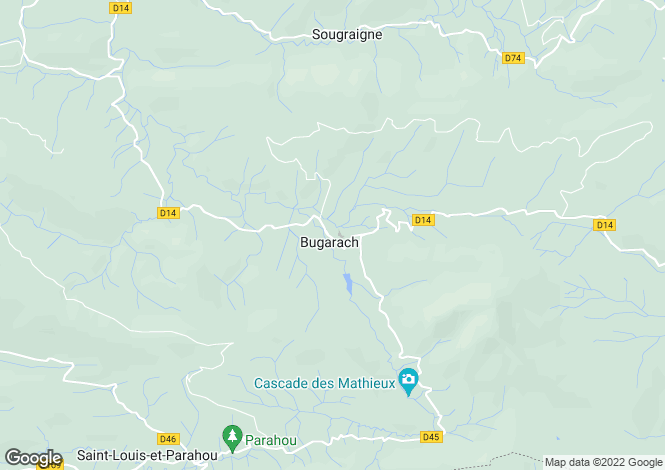 Map for Languedoc-Roussillon, Aude, Bugarach
