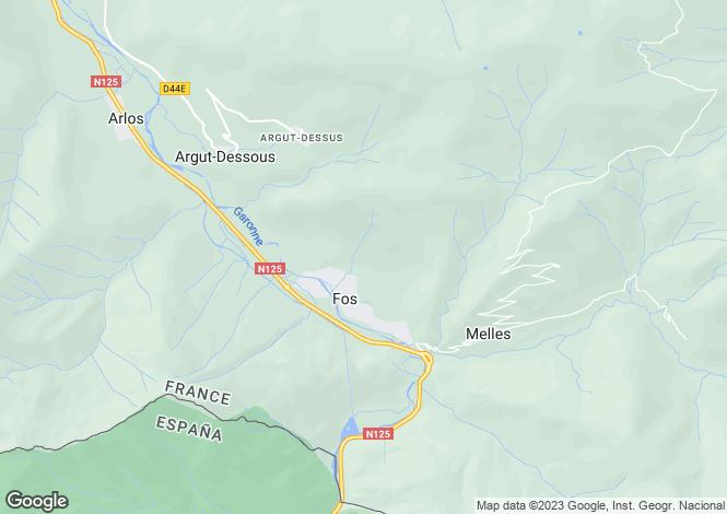 Map for fos, Haute-Garonne, France