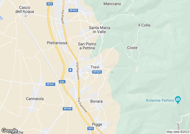 Map for Umbria, Perugia, Trevi