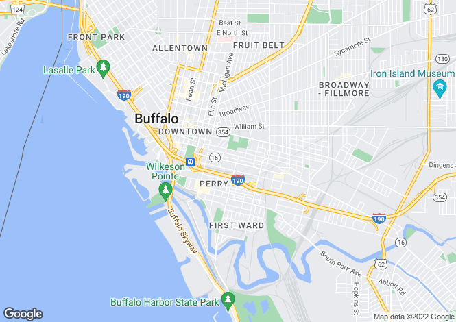 Map for Buffalo, Erie County, New York