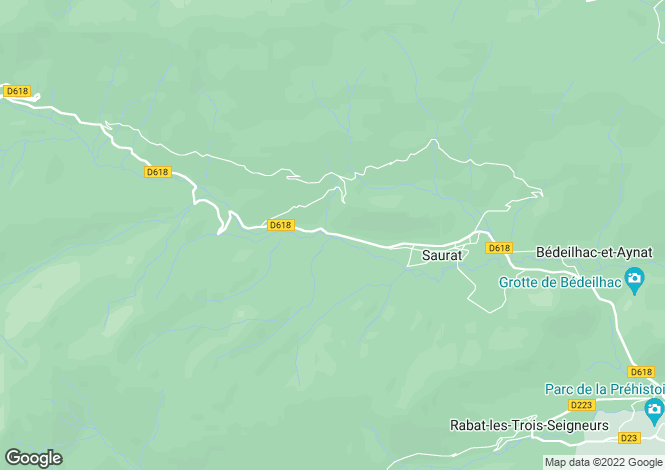 Map for saurat, Ariège, France
