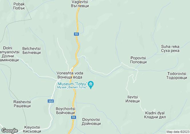 Map for Voneshta Voda, Veliko Tarnovo