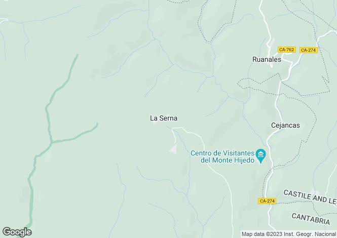 Map for Polientes, Santander, Cantabria