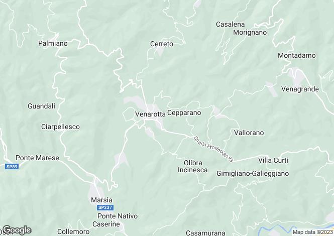 Map for Venarotta, FRAZIONE CERRETO