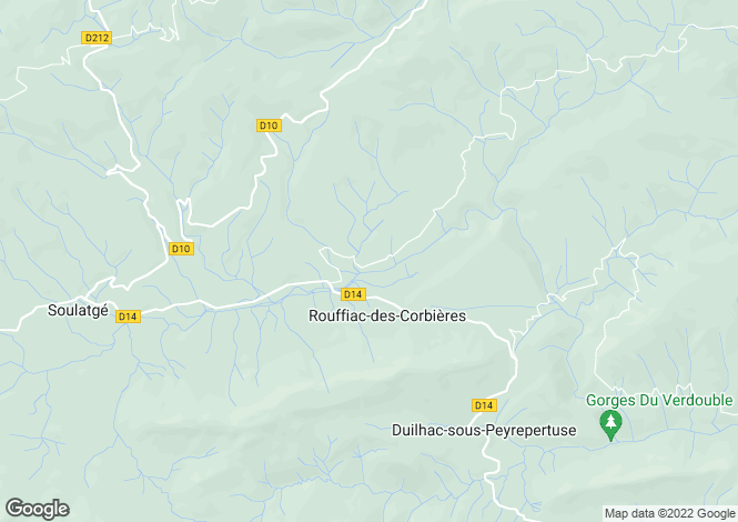 Map for 11350 ROUFFIAC-DES-CORBIERES, Pyrenees-Orientales, France