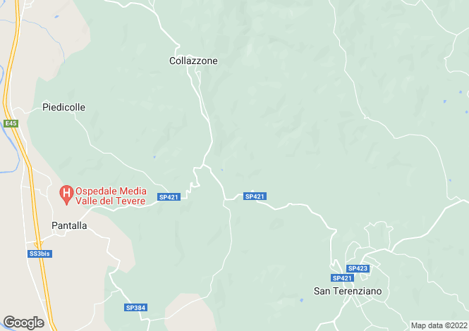 Map for Umbria, Perugia, Collazzone