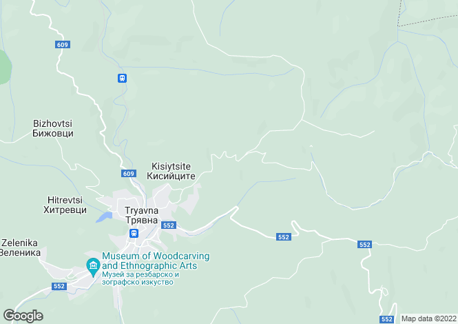 Map for Tryavna, Gabrovo