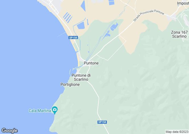Map for Scarlino, Grosseto, Tuscany