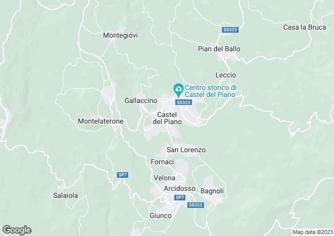 Map for Castel Del Piano, Tuscany, Italy