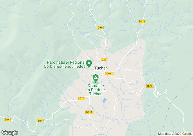 Map for Proche / Near Tuchan, Aude