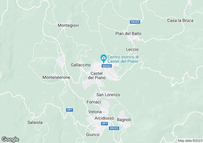 Map for Tuscany, Grosseto, Castèl del Piano