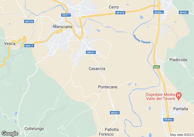 Map for Casaccia, Monte Santa Maria Tiberina, Umbria, Italy