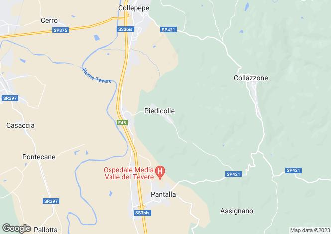 Map for Collazzone, Perugia, Umbria