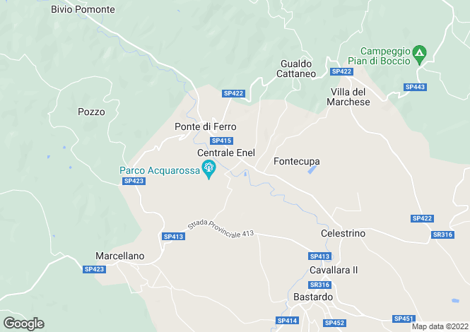 Map for Gualdo Cattaneo, Perugia, Umbria