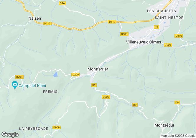 Map for Montferrier, Midi-Pyrenees, 09300, France