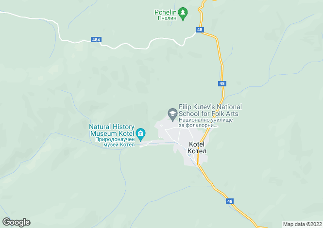 Map for Kotel, Sliven