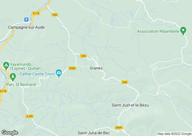 Map for 10048: Granes, Aude